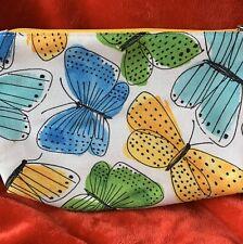 CLINIQUE Butterflies Cosmetic Makeup Bag Zipper Pouch