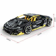 Lamborghini hypercar ROADSTER sport car racing block building MOC 1.12 Black