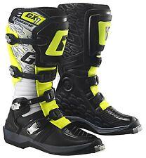 GAERNE GX-1 EVO Motocross Enduro Quad Stiefel Gr. 43 weiss-schwarz-yellow