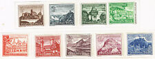 Germany Architecture Famous Castles in Mountains set 1939 MLH CV $28