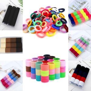 66 Stück FROTTEE Haargummi elastisch Zopfgummi Zopfband Haarbinder Haarband Bunt
