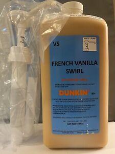 Dunkin Donuts French Vanilla Swirl With Pump 64oz Jug
