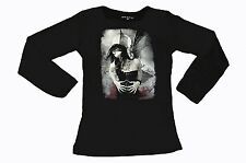 Cotton Blend Long Sleeve Gothic Tops for Women