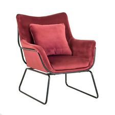 Sessel Armchair Fotel Kavi lounge egg bordo  velvet