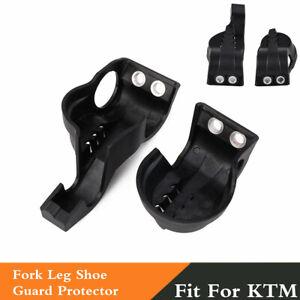 Set Black Lower Fork Leg Shoe Guard Protector