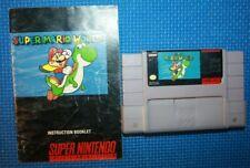 Super Nintendo Game: Super Mario World Cartridge and Manual