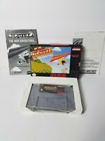 Nintendo SNES Pac-Man 2 The New Adventures Game Cartridge Complete Box & Manual