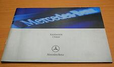 Original Mercedes Benz corto usuarios Funcionamiento INSTRUCCIONES CLASE C W