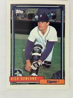 Rich Rowland Detroit Tigers 1992 Topps Baseball Card 472