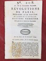 Nantes en 1793 Chouans Evreux Landrecies Robespierre Toulouse Brissot Éducation