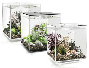 biOrb Cube MCR 60L Aquariums Black/White/Clear Fish Tank Filter LED Oase
