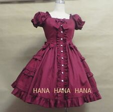 sweet love lolita vintage princess moe dress(Color:Red Wine)