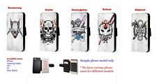 Suicide squad Inspired leather phone case boomerang diablo harleyquinn for HTC