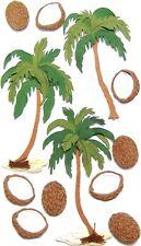 EK SUCCESS JOLEE'S BOUTIQUE 3-D STICKERS - PALM TREES COCONUTS - COCONUT PALMS