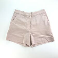 H&M Womens Pink Flat Front Modal Chino Dress Casual Shorts 6
