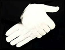 Parade or Funeral White Dress Gloves, Cotton Strech Raised Pointing