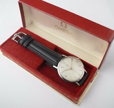 Vintage Rare Mint Omega Watch Cal 286 Manual Wind Stainless Steel & Box