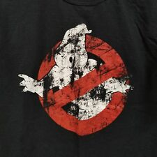 Ghostbusters Distressed Logo Graphic T Shirt Size Medium Black Fruit Of The Loom