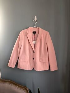 NWT Talbots Light Pink Blazer in Size 16 Petite