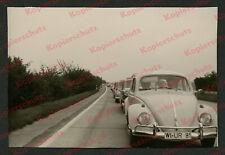 orig. Foto Stau Autobahn VW Käfer Volkswagen Wiesbaden Straßenverkehr Pkw 1963
