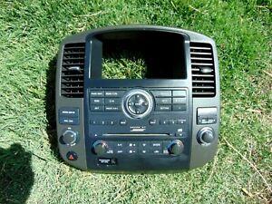 08-12 Nissan Pathfinder Center Dash Radio Climate Hazard Bezel Trim Surround OEM