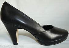 43bc32086c7 Bella Vita BETA Black Leather Round Toe High Heel Pumps Med   Narrow Widths