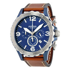 Fossil Nate Chronograph Navy Blue Dial Mens Watch JR1504