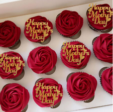10 PCS Happy Mothers Day cupcake toppers, mum cake topper, glitter topper, perso