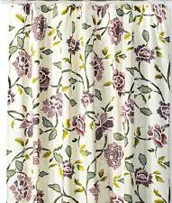 """Threshold Purple and Green Floral Shower Curtain Multi-color NEW 72 X 72"""" Cream"""