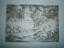 Planche gravure F-P Charpentier La Culbute d'aprés le dessin de Fragonard