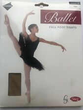 Ladies Full Foot Ballet Tights Tan Small By Silky Adult dance Footed