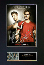 SUPERNATURAL Top Quality Signed Mounted Autograph Photo Print (A4) No136