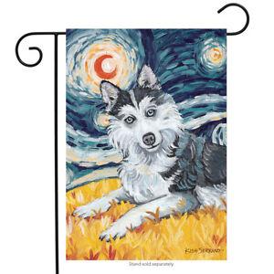"Van Growl Siberian Husky Dog Garden Flag Animals Toland Pet 12.5"" x 18"""