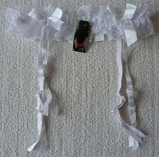 Porte jarretelle femme dentelle blanc taille M-L neuf