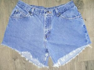 Chic Denim Shorts Vintage Chic Jeans High Waist Cutoff Shorts Waist Size 12