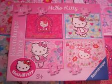 HELLO KITTY, 4 JIGSAW PUZZLES in a box. 12 - 24 PIECES AGE 3+.