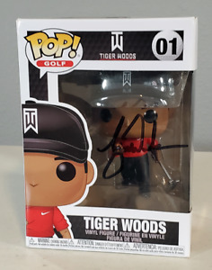 Tiger Woods Signed Autographed Funko Pop with COA