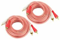 2 RCA 12 Ft Cable Audiopipe Stereo Interconnect Car Audio Home Cables 2 Channel