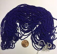 Antique/Vintage Seed Beads-11/0 Medium Dark Blue Navy Cobalt-10 g hanks