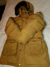 Gold Mustard Mens John Rich Woolrich Artic Down Parker With Coyote Hood RRP £600