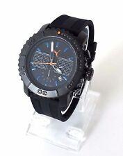Puma Herren Uhr Gallant Chronograph schwarz blau Silikon Datum PU103561003