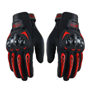 Touchscreen Motorcycle Full Finger Gloves for Men Hard Knuckle Motorbike Gloves