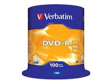 Verbatim DVD-R 16x Speed, Confezione da 100 4,7GB 43549 023942435495