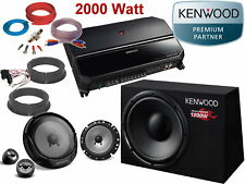 Kenwood Skoda Citigo desde 2011 Altavoz Subwoofer Amplificador Cajas Kit 2000W