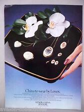 China Jewelry by Lenox PRINT AD - 1981