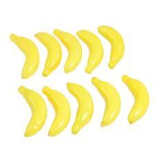 Hot Sale! 10Pcs Yellow Fake Foam Bananas Decorative Party Artificial Fruits S9B5