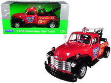 Welly 1953 Chevrolet Tow Truck Die Cast Metal Red 1/24 3042124