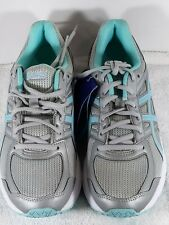 ASICS Women's size 9D Jolt Gray/Blue/White Athletic Training Running Shoes T7K9N
