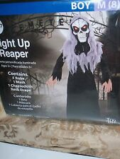 BOY'S LIGHT UP REAPER COSTUME SIZE M (8) AWESOME! HALLOWEEN NEW IN PACKAGE
