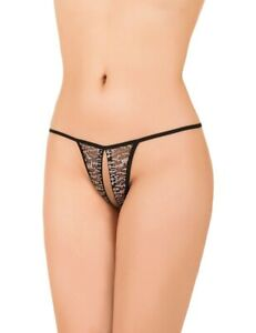 Made in Europe Women Sexy Lingerie G-String Crotchless Thong Knickers S-XXXL